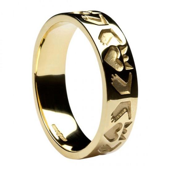 Gold Claddagh Friendship Wedding Ring
