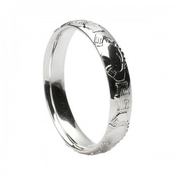 Sterling Silver Claddagh Wedding Ring