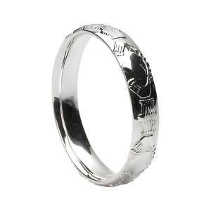 Sterling Silver Claddagh Wedding Ring