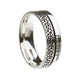 Sterling Silver Trinity Knot Faith Wedding Ring