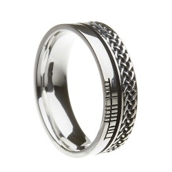 Sterling Silver Celtic Knot Faith Wedding Ring