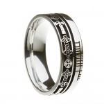 Sterling Silver Celtic Cross Faith Wedding Ring