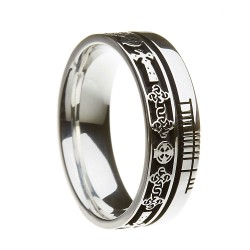 Sterling Silver Celtic Cross Faith Wedding Ring