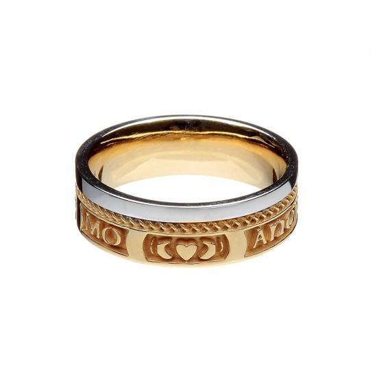 My Soul Mate Gold Faith Wedding Ring
