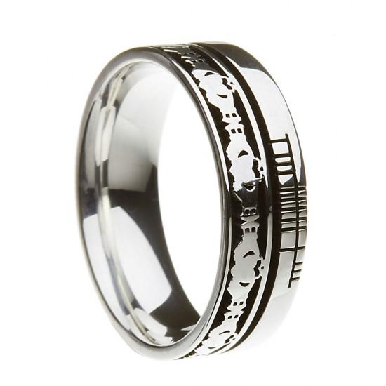Sterling Silver Claddagh Faith Wedding Ring