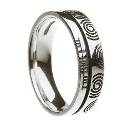 Sterling Silver Newgrange Faith Wedding Ring