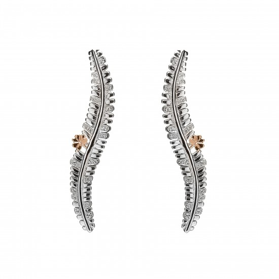 Sterling Silver Fern Earrings