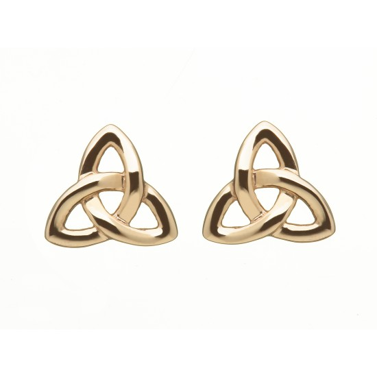 Rose Gold Trinity Stud Earrings