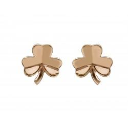 Rose Gold Shamrock Stud Earrings