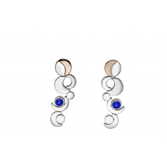 Irish Designed Celtic Earrings | Irish Gold Element - Phase of the Moon | House of Lor