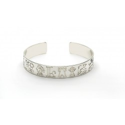 Silver Impressions of Ireland Bangle