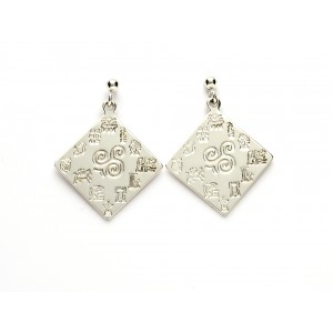 Impressions of Ireland Silver Earrings