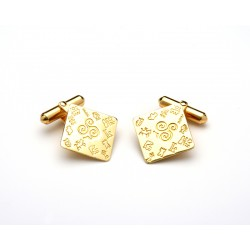 Impressions of Ireland Gold Cuff-Links