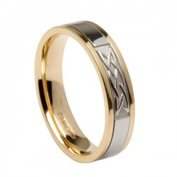 Gold Signature Lovers Knot Wedding Band