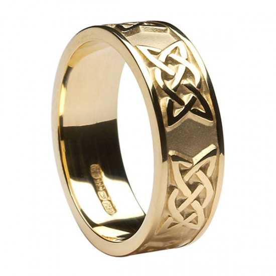 Gold Celtic Lovers Knot Band