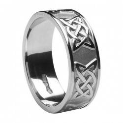 Silver Celtic Lovers Knot Ring