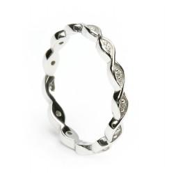 Gold Celtic Weave Diamond Ring