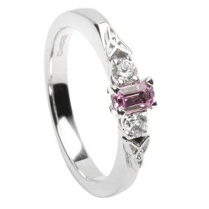 Diamond and Pink Sapphire Eternity Ring