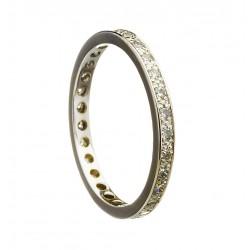 All Diamond Set Promise Ring