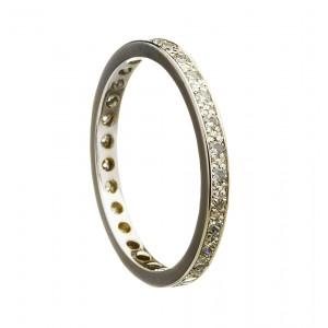 14K Gold Diamond Eternity Promise Ring