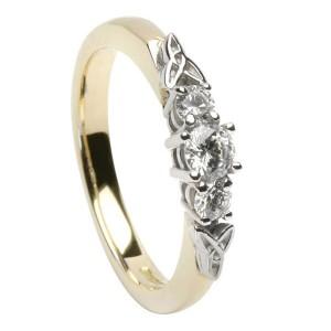 14K Gold Diamond Promise Ring