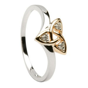 Gold Trinity Knot Promise Ring