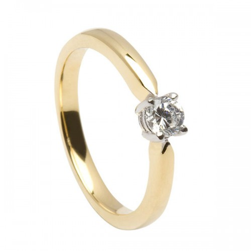 14k gold eternity promise ring