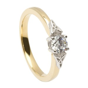 Gold Diamond Promise Ring