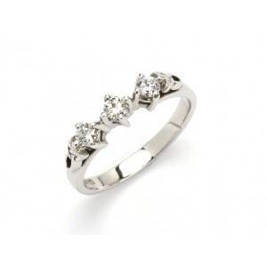 14K Trinity Trilogy with Brilliant Cut Diamond Promise Ring
