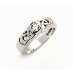 14K Celtic Solitaire Promise Ring Brilliant Cut Diamond Promise