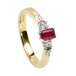 Diamond and Ruby Eternity Promise Ring