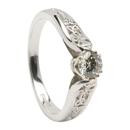 Gold Diamond Trinity Knot Promise Ring