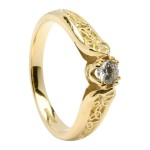 Gold Diamond Trinity Knot Promise Ring