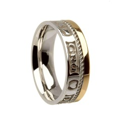 Gold Love Loyalty Friendship Faith Wedding Band