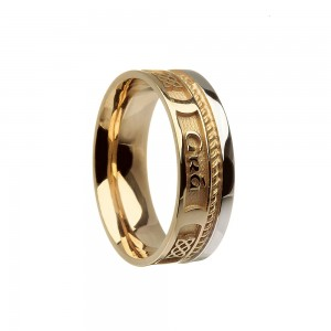 Love Forever Faith Gold Wedding Ring