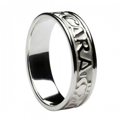 Silver Mo Anam Cara Wedding Ring