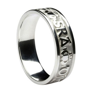 Silver Love Loyalty and Friendship Wedding Band