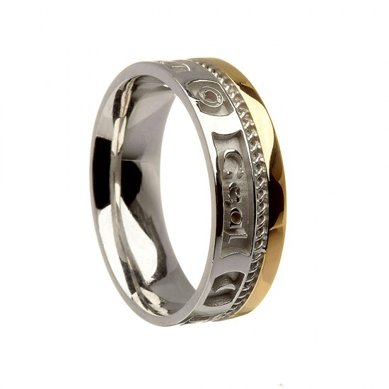 Bright Love of My Heart Gold Wedding Band