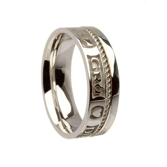 Sterling Silver Love Loyalty Friendship Wedding Ring
