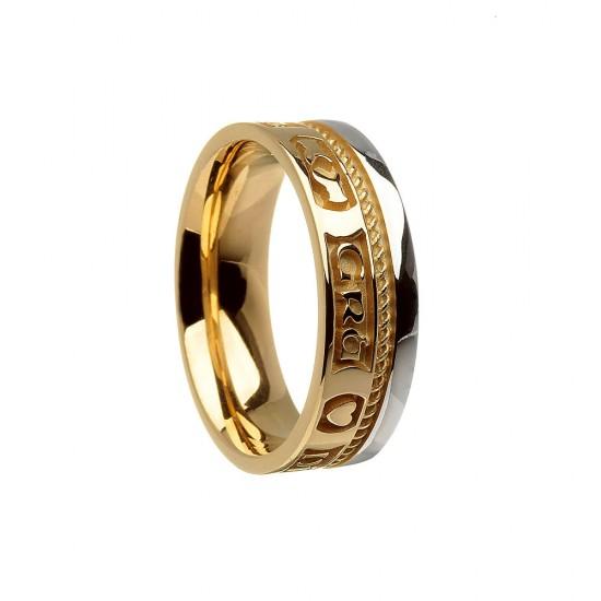Gold Love Loyalty Friendship Faith Wedding Band