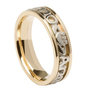 Gold Signature My Soul Mate with White Gold Text