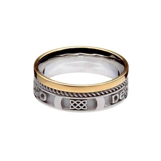 Love Forever Faith Gold Wedding Ring