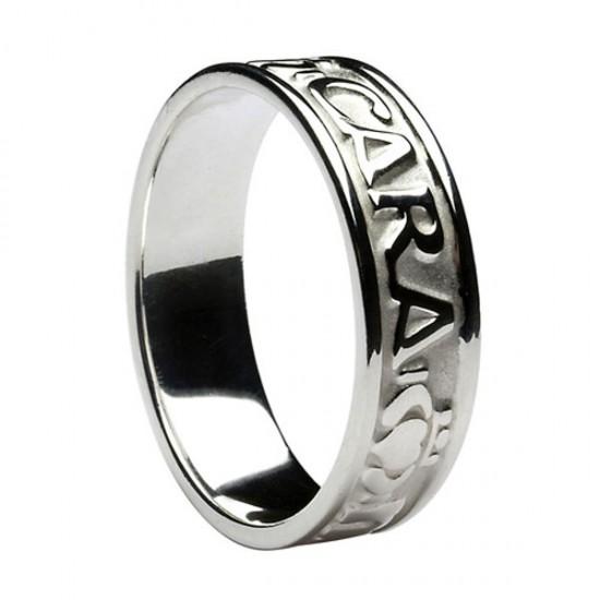 Silver Mo Anam Cara Wedding Ring
