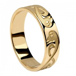 Gold Le Cheile - Together - Celtic Wedding Ring
