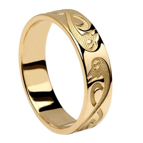 Gold Le Cheile - Together - Celtic Wedding Ring