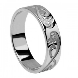 Silver Le Cheile - Together - Celtic Wedding Ring