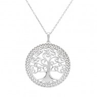 Sterling Silver Celtic Spiral Tree of Life Pendant