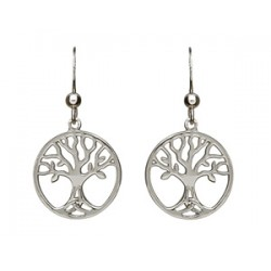 Sterling Silver Tree of Life Drop Earrings