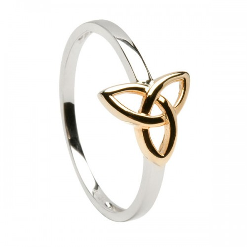 rings tone trinity two knot ring gold celtic