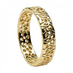 Gold Trinity Knot Filagree Wedding Ring